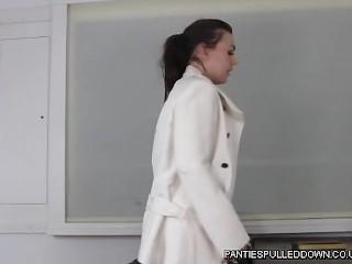 Office Slut Kacie James wanking in pantyhose!