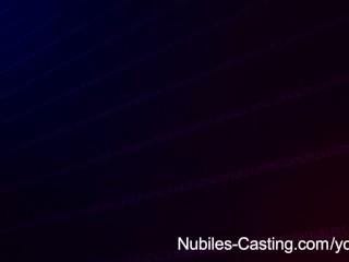 Nubiles Casting - Busty black babe tittie-fucks her way to a job
