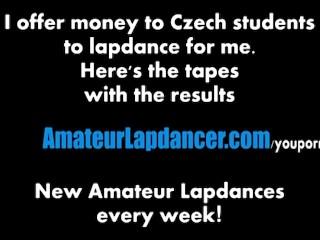 Hot czech student does sexy lapdance