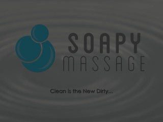 SoapyMassage Cute Asian Sliding and Titty Fucking