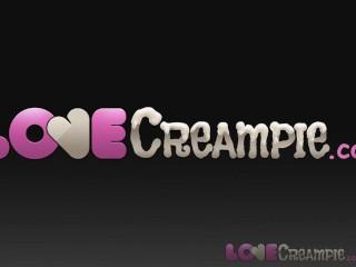Love Creampie Classy big tits MILF lets husband cum inside her