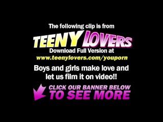 Teeny Lovers - Sexy teen enjoys the fucking
