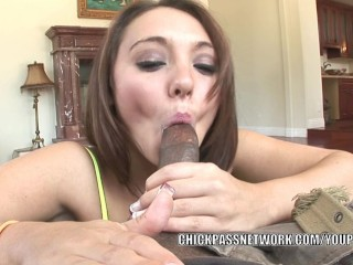 Tiny slut Khloe Kush takes some dick in her tight pussy