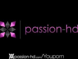 Passion-HD Petite girl shaves pussy and sucks her man