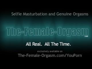 Horny College Girl Films Her Masturbation Session