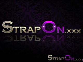 StrapOn Heavenly blonde lesbian strapon sex