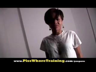 Piss Whore Training - Mia 2nd lesson