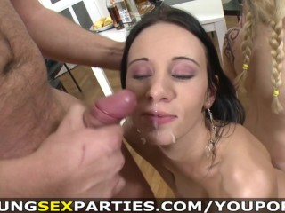 The Swinger Experience Presents Teens fucking three-on-two