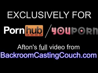 Fit Afton on Backroom Casting Couch - Full video