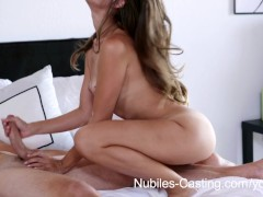 Picture Nubiles Casting - Adult bitch tit babe tries...