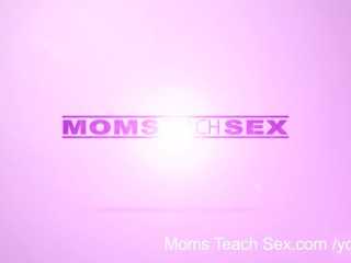 Teach/young old/moms teaches mom sex