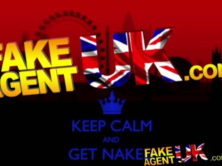 FakeAgentUK Deep throating fucking and creampie for British amateur