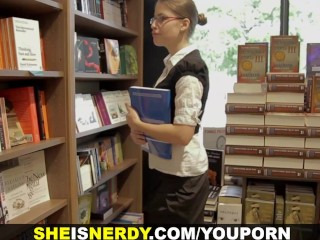 She Is Nerdy - Nerdy hottie face-painted with cum
