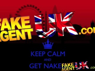 FakeAgentUK Petite British amateur amazes agent with deepthroat skills