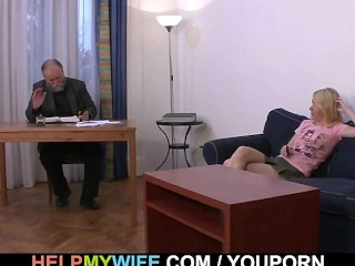 Desperate husband pays a stud to fuck his wife