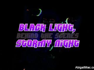 Black light porn set behind the scenes