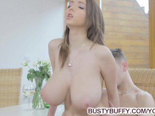 18yo Busty Buffy fucks for cum on tits