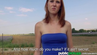 Mofos - Freaky redhead shows off her stuff on the road