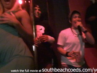 real girls stripping on a pol contest miami south beach home video