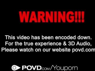 HD - POVD Petite blonde Sammie Daniels swallows POV style