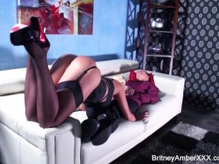 Britney Amber sucks and fucks