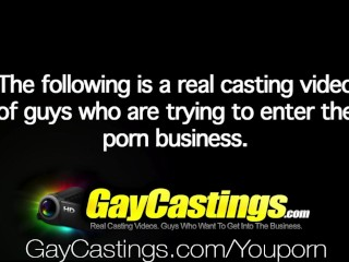 HD - GayCastings Hunk get fucked in the ass for his audition
