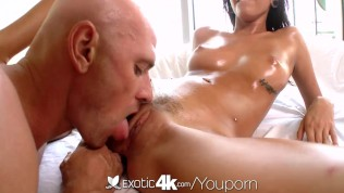 4K HD - Exotic4K Latina Janice Griffith is fucked in her oiled pussy