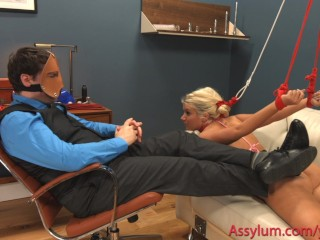 Big ass Layla Price gets hard anal and ass to mouth as humiliated cheerleader
