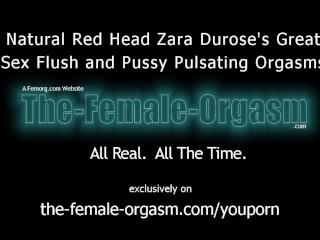 Natural Redhead Masturbation Sex Flush and Pulsating Orgasms