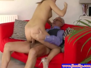 Classy british babe fucking old cock