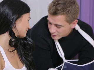 Small tits/swallowing/with perky student teacher and