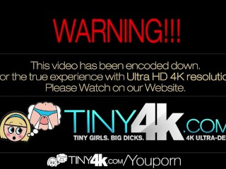 HD - Tiny4k Teen Alaina Kristar gets a healthy creampie in her pussy