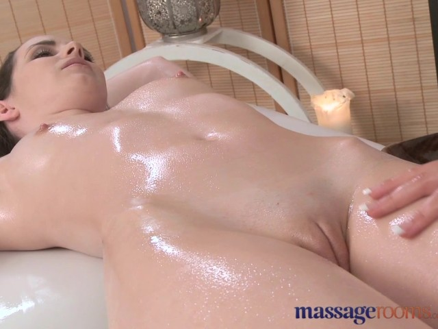 Massage Rooms Teen Lesbians Oil Up Their Young Firm Shaven -5533