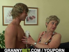 Picture Lonely 60 years old granny swallows big cock