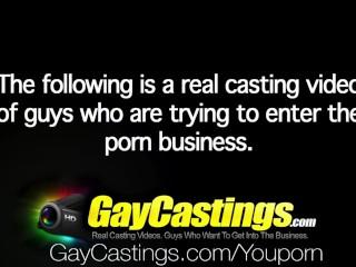 HD - GayCastings Amateur guy sucks first big cock on film