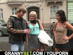 Picture Young dude picks up 60 years old prostitute