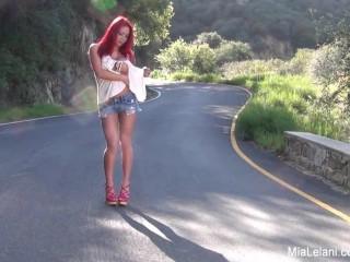 Mia nude on the road