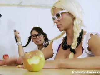 Nikita Von James schoolgirl Lesbian Fun