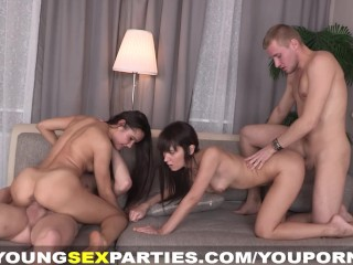 The Swinger Experience Presents Foursome party with sex cards