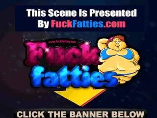 Ebony fuck slut gangbanged by three horny guys