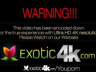 4K HD - Exotic4K Hard cock between ebony Julie Kays boobs
