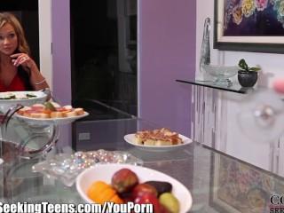Horny Couple Seduce their Teen Maid