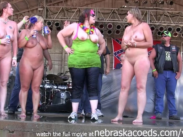contest naked biker chick