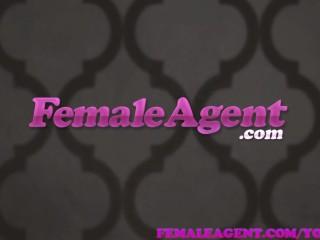 FemaleAgent Oiled up sexy agent gets fucked and masturbates