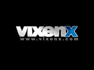vixenx - Very attractive brunette teen in knee high socks fucking