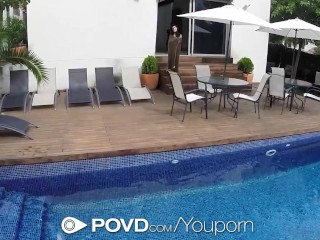 HD POVD - Lexi Dona gets frisky with her man by the pool