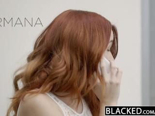 BLACKED Red Head Model Amarna Miller Interracial Creampie
