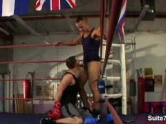Picture Gay boxing guys having sex in the gym