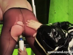 Slave girl shows good...