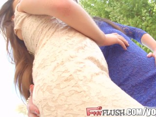 Fist Flush Hard fisting action from two hot french chicks